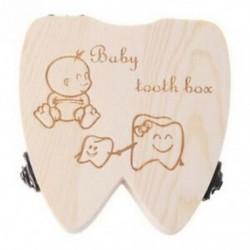 6X (Baby Tooth Box fa tejfogak szervezőjének tárolására szolgáló lányok megtakarítják a szuvenírt C N7V3