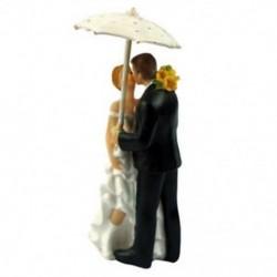 5 szett Esküvői pár napernyővel tortadísz esküvőre - évfordulóra - Különleges alkalmakra - T5V7