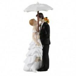 6 szett Esküvői pár napernyővel tortadísz esküvőre - évfordulóra - Különleges alkalmakra - Z5M8