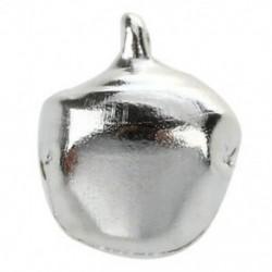 20 db karácsonyi jingle csengő 10 mm-es ezüst tónusú Z2B5