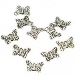1zsák (30db) tibeti ezüst pillangó távtartó charm gyöngyök 10mm gyöngy ékszerek M G3T3