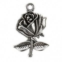 10 darab antik ezüst ötvözet medál - Rose - A0879 V8W9