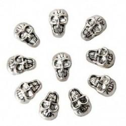10 db retro koponya távtartó gyöngyök - antik ezüst L8J3