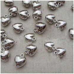 1X (200db Love Heart Charm cseppek és medálok 8x6mm K3Y5)