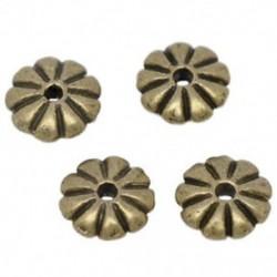 100x bronz tónusú spacer gyöngyök 7x2mm T7H4
