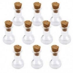 Mini üveg palackok parafa dugóval