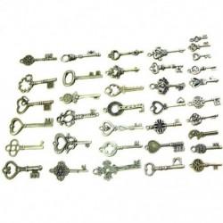 1X (40 darab vintage csontváz kulcstartó antik bronz színű ékszerhez A2Q3)