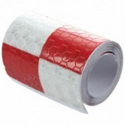 1X (1M fényvisszaverő biztonsági figyelmeztető szembetűnő szalagmatrica, piros   fehér A6G6)