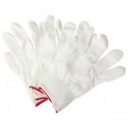 2 pár antisztatikus nylon kesztyű, nylon kesztyű, fehér X6C1