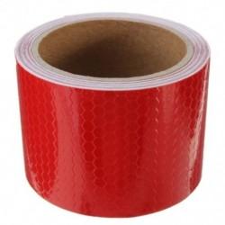5cm x 3m szalag figyelmeztető szalag visszaverő szalag biztonsági szalag, piros M5V7