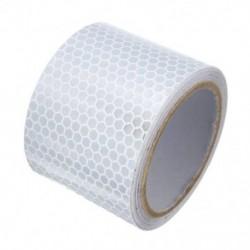 5X3m ezüst fehér fényvisszaverő biztonsági figyelmeztető szembetűnő szalag matrica film M3B6