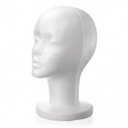 Női fehér habhab manöken kalap sapka paróka fej kijelző tartó V8T5 Y5A5
