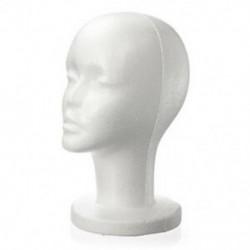Divat női fehér hab polisztirol hab manöken kalap sapka dummy paróka fej d Y5C2