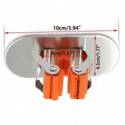 2X (2 darab öntapadós, szálcsiszolt rozsdamentes acél felmosórongy és seprűtartó Orga H6Q1