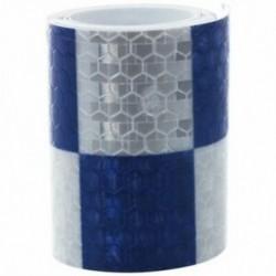 1M fényvisszaverő biztonsági figyelmeztető szembetűnő szalagmatrica, fehér   kék M8D9