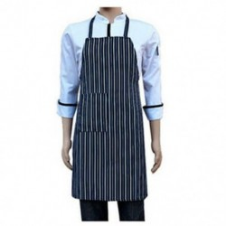 Vízálló Bib kötény nejlon kék és fehér csíkos étterem B1K7