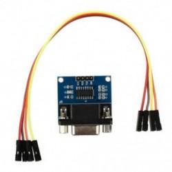 MAX3232 RS232 soros port a TTL átalakító modulhoz DB9 csatlakozó W / 4 ugrás C T4L1