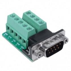 RS232 soros csatlakozás a DB9 csatlakozóhoz, a dugaszoló csatlakozó csatlakozójelei U7F9 csatlakozómodul