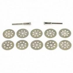1X (10 db 22 mm-es 8 lyukú elektromos csiszoló tartozékok gyémánt szelet / fűrészlap C0B4
