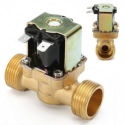 1X (új 3/4 hüvelykes NPSM 12V DC vékony sárgaréz elektromos mágnesszelep gázvíz Ai V5T4