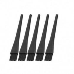 5 db 1,5 x 0,5 cm-es fekete műanyag kerek fogantyú, antisztatikus ESD kefe U0I1