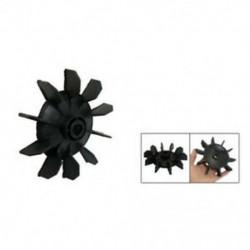 Légkompresszor része fekete műanyag 14 mm-es belső átmérőjű. Tíz Vanes motoros ventilátor penge K3F8