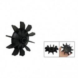 Légkompresszor része fekete műanyag 14 mm-es belső átmérőjű. Tíz Vanes motoros ventilátor penge X7T2