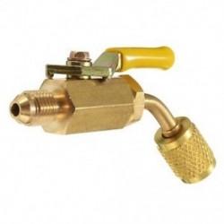 R410a R134a sárgaréz elzáró szelep klíma feltöltő tömlőkhez HVAC 1/4 hüvelykes AC Hűtőgép J8D1