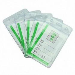 5 védőálló, átlátszó PVC jelvényes kiállítási azonosító névkártya-tartók W9U7 W2A5