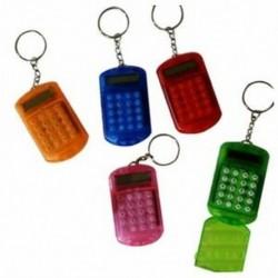 Akkumulátoros 8 számjegyű LCD Mini számológép O5P4 A6W7 E4Y2 kulcstartóval