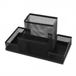 1X (íróasztal dekorációval 4 hálótartó rekeszes ceruzatartó 8,1 hosszúságú fekete K5G1)