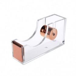 Deluxe akril tervező irodai asztali szalag adagoló, tiszta rózsa arany C9O7