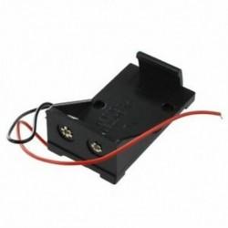 1X (2 db fekete műanyag 9 V-os cellás elemtartó tokban, vezetékes vezetékekkel J2C9)