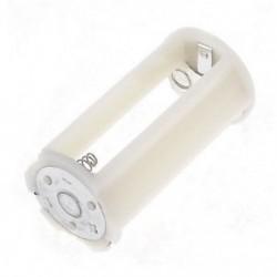 Halványfehér henger akkumulátor tartó adapter 3x1,5 V AA elemekhez