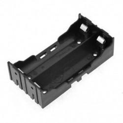1X (fekete elemtartó 4 tűs 2x18650 újratölthető lítium-ion akkumulátorokhoz E9H7)