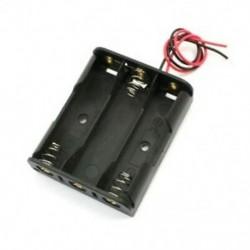 2X (rugós rögzítő fekete műanyag 3 x 1,5 V-os AA elemtartó rekesztartó J1W8)