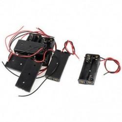 7 darabos fekete piros, kétvezetékes kábelcsatlakozók, 2x AAA elemtartó doboztartó H4I3