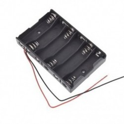 1X (új 6 x 1,5 V AA 2A CELL akkumulátor tartó doboz 9V tok, A4G8