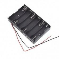 6x1.5V AA 2A CELL elem akkumulátor tartó tárolódoboz 9V tok   vezetékes huzal B E1A6