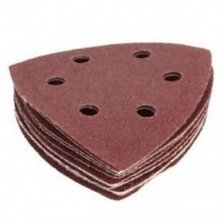 1X (10x Nylon Delta homokpapír párnák - 90 mm es - 40, 60, 80, 100 és 120 Grit S V4R7