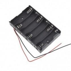 2X (új 6 x 1,5 V AA 2A CELL akkumulátor-elemtartó tartó doboz 9V tok, P7B4