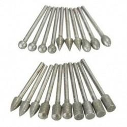 20 db 3 mm-es szárú gyémánt csiszoló fúrócsavarkészlet készletkészletek forgószerszámokhoz B9J1