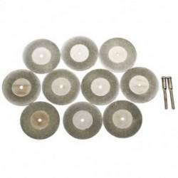 10 db 40 mm-es gyémánt vágókorong-tárcsa forgószerszám, arbor I3D8