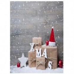 3x5FT vinil fényképezés háttér fal háttér fénykép háttérkép karácsonyi kalap R5E4