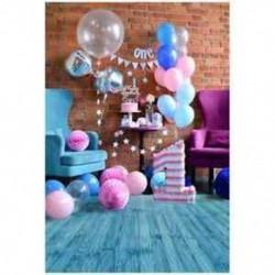 Aranyos kék első születésnapi baba fotózás háttérrel 3x5ft vinil fotó hátlap J7J3