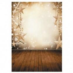 Karácsonyi vékony vinil hátteret tartalmazó fotózás háttérképhez hó háttér 5x7ft N4I1