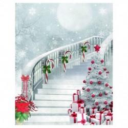 Vékony vinil stúdió karácsonyi háttér fotózás fénykép háttér 5x7ft F2R6