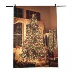 210x150cm-es Ünnepi hangulatú szoba - karácsonyfa háttér stúdió fotózáshoz - J4L7