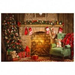 210x150cm-es Karácsonyi háttér stúdió fotózáshoz - E2Y M1M5