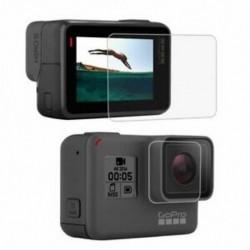 2X (PULUZ GoPro kiegészítőkhez edzett üveg film LCD HD képernyővédő fólia   H3I2